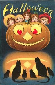 Antique Halloween card