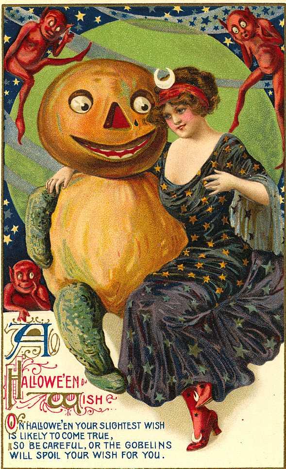 Victorian Halloween Postcard 5