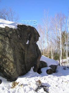 Washington Boulder, Jackson NH, NOT to be confused with the Franklin Profile in the same town, different location. Photo courtesy Jackson Historical Society.