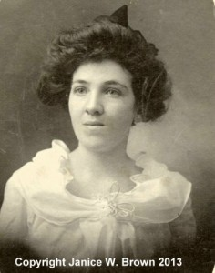 Addie Ryan, photograph taken around 1897.