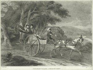 The Miriam and Ira D. Wallach Division of Art, Prints and Photographs: Print Collection, The New York Public Library. (1798). Canadian calash or marche-donc. Retrieved from http://digitalcollections.nypl.org/items/510d47db-92d6-a3d9-e040-e00a18064a99