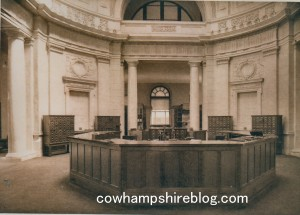 Carpenter Memorial Library main desk, circa 1914.
