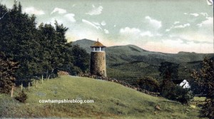 Old postcard showing Carter's Tower