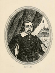 "Likeness of Samuel de Champlain from ""The Isles of Shoals. An historical sketch,"" (1901), by John Scribner Jenness, Boston, NY, Houghton, Mifflin and Company; page 16"