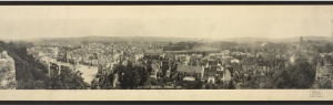 Chateau Thierry, France, c 1919, panoramic photograph; Library of Congress