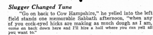 cow hampshire ted williams quote
