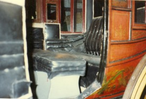 Concord Coach as found in the Adirondack Museum in Blue Mountain Lake NY. Copyright 2000 by Janice W. Brown.