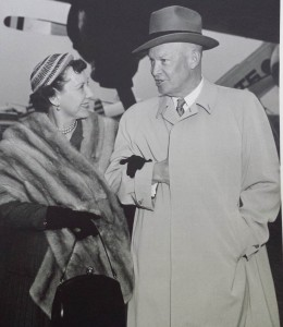 Dwight D. Eisenhower and his wife Mamie.