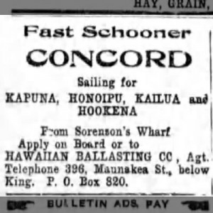 fast schooner concord