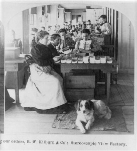 Filling Our Orders, B.W. Kilburn & Co.'s Stereoscopic View Factory, Littleton NH, B.W. Kilburn c1905, Library of Congress Prints and Photographs Division