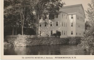 Postcard showing the Goyette Museum, Peterborough NH.