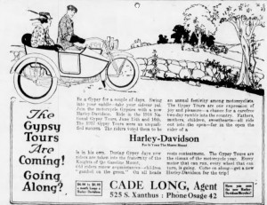 The Morning Tulsa Daily World (Tulsa, Oklanhoma) 24 March 1918--The Gypsy Tours are Coming! Going Along?