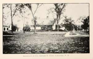 "Home of Edward E. Cross in Lancaster NH from ""History of Lancaster NH"""