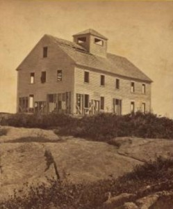 House on top of Mount Kearsarge, from a stereoscopic view.