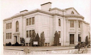 Older photograph of the Institute of Arts and Sciences in Manchester NH