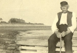 Photograph of my great-grandfather, Patrick J. Ryan on the beach at Straw's point, prior to 1929.
