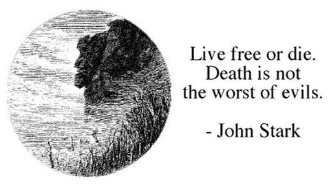 Motto Live Free Or Die Cow Hampshire