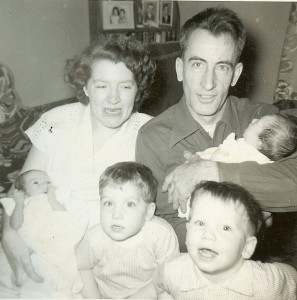 Mary and Berwin Webster with children.