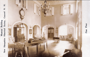 Another view of First Floor museum display at NH Historical Society, pre 1911 (when it was located at 215 North Main Stret Concord NH)