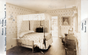"""2nd Floor """"Chamber""""  museum display at NH Historical Society, pre 1911 (when it was located at 215 North Main Stret Concord NH)"""