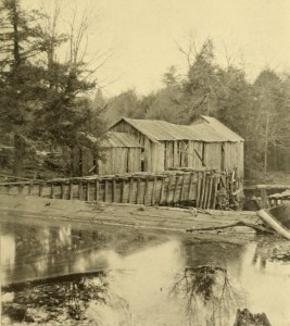 Photograph of the oldest saw mill in New York, from Six Annual Report of the Forest, Fish and Game Commission of the State of New York, 1901, page 354