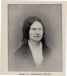 Mary Ann (Powers) Filley. Photograph from New Hampshire Women. A Collection of Portraits and Biographical Sketches, COncord NH, 1895