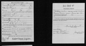 World War I Draft Registration for Herbert Edward Staples of Mountainview, NH