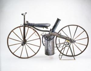 Roper Steam Velocipede, c1869, Gift of John H. Bacon, Smithsonian Institution