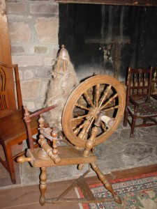 Colonial Spinning Wheel, photograph copyright Janice W. Brown