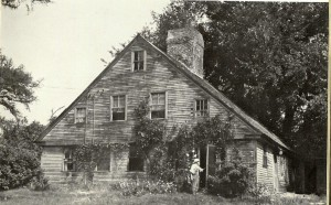"Old post card showing ""oldest house"" in Surry, NH"