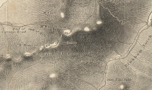 Boardman Map of 1858 showing Tuckerman Ravine.
