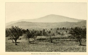 View of Kiersage from the Eastman Farm in Andover NH, from