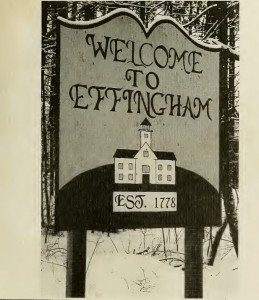 Welcome to Effingham (NH) sign from 2000 Town Report.