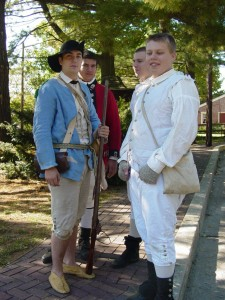 Young re-enactors of the American Revolution. National Park New Jersey 2005